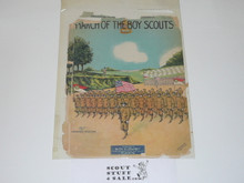 March of the Boy Scouts Sheet Music, Paper Brittle