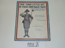 1917, Hoe Your Little Bit in your Own Backyard Sheet Music