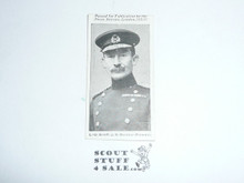 British Tobacco Card Set, Military Portraits A Series of 25, #25 Lieut.-Gen. Sir R.S. Baden Powell