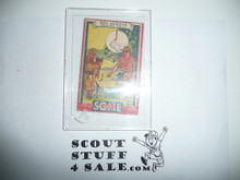 1933 Some Boy Chewing Gum Boy Scout Card Set By the Goudey Gum Company, Boston Ma, #47, The Law of Gravity
