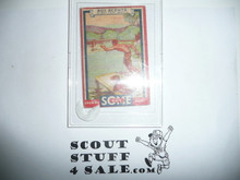 1933 Some Boy Chewing Gum Boy Scout Card Set By the Goudey Gum Company, Boston Ma, #3 A Scout Is Brave #2