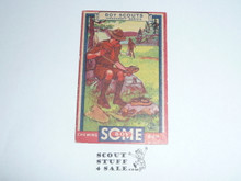 1933 Some Boy Chewing Gum Boy Scout Card Set By the Goudey Gum Company, Boston Ma, #20 Home Made Moccasins