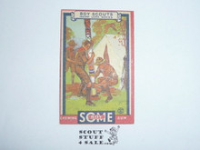 1933 Some Boy Chewing Gum Boy Scout Card Set By the Goudey Gum Company, Boston Ma, #10 A Totem Pole for your Camp