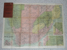 South Africa Map From Time of Boer War