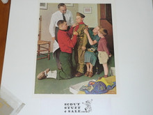 Norman Rockwell, Unknown Name Print, Not on Heavy Cardstock