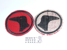 Raven Patrol Medallion, Felt No BSA & Gauze Back, 1927-1933