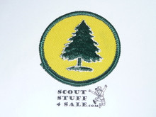 Pine Tree Patrol Medallion, Yellow Twill with paper back, 1972-1989