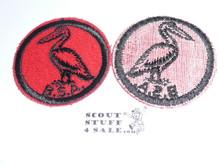 Pelican Patrol Medallion, Felt w/BSA & Solid Black Ring back, 1933-1939