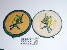Pedro (hiking) Patrol Medallion, Yellow Twill with gauze back, 1972-1989
