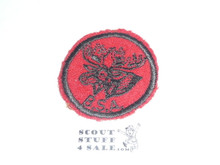 Moose Patrol Medallion, Felt w/BSA & Solid Black Ring back, 1933-1939, lt. use