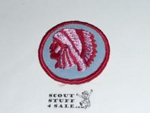 Indian Patrol Medallion, Blue Twill with gauze back, 1972-1989
