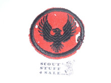 Flying Eagle Patrol Medallion, Felt No BSA & Gauze Back, 1927-1933, Used with mothing