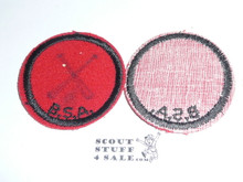 Blank Patrol Medallion, Felt w/BSA & Solid Black Ring back, 1933-1939, drawn on but not used