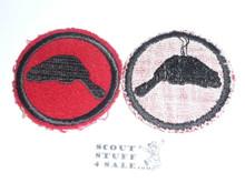 Beaver Patrol Medallion, Felt No BSA & Gauze Back, 1927-1933, Lt. Use