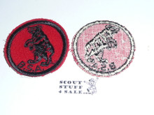 Bear Patrol Medallion, Felt w/BSA black/White ring back, 1940-1955