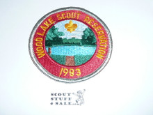 Wood Lake Scout Reservation Patch 1983