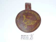 North District Wild Turkey Camporee Leather Patch 1954