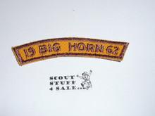 Lake Arrowhead Camp Big Horn Segment Patch 1962