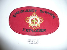 BSA Emergency Service Explorer Armband (black letters) - Elastic Band style but no band