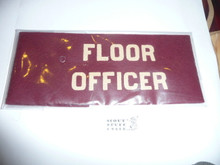 Floor Officer Felt Armband from the 1937 National Jamboree
