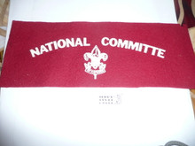 Boy Scout National Committee Felt Armband from the 1937 Jamboree