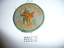 Westerners District Council Patch (CP) - Used