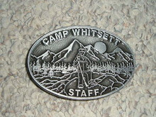 2000's Camp Whitsett STAFF Cast Aluminum Belt Buckle - Scout