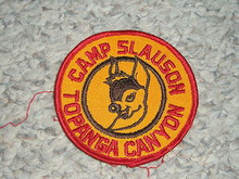 1960's Camp Slauson Patch - Southern California Scouting