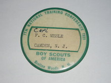 1939 National Professional Training Conf Button - Scout