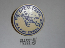 "Pony Express Council, ""I'm a Pony Express Rider"" Neckerchief Slide"