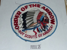 Order of the Arrow Multi color Indian Head Logo Jacket Patch, original non-plastic backed, used #2