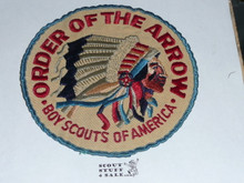 Order of the Arrow Multi color Indian Head Logo Jacket Patch, original non-plastic backed, used