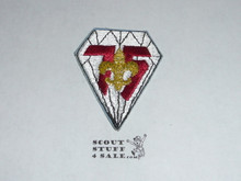 75th BSA Anniversary Patch, Diamond shaped