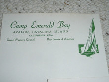 Great Western Council, 1970's Camp Emerald Bay Stationary and Envelope