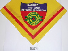 Schiff Scout Reservation, National Junior Leader Instructor Training Camp Neckerchief, Red Printed Band