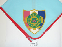 Schiff Scout Reservation, Shield Emblem Neckerchief, Red Piped