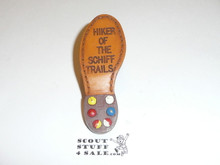 Schiff Scout Reservation, Neal Hiker of the Schiff Trails Neckerchief Slide, Painted #2