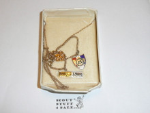 Schiff Scout Reservation, Pendant on Chain, 12 Karat Gold and Gold Filled Chain