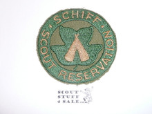 Schiff Scout Reservation, Twill Patch Cut to Round