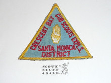 Crescent Bay Area Council, Santa Monica District Cub Scout Expls Patch, Sewn to Material