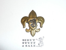 Old Stamped Bronze Foreign Boy Scout Pin