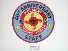 Philmont Scout Ranch, Training Center, Fortieth Anniversary Staff Jacket Patch