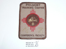 Philmont Scout Ranch, Training Center, Conference Faculty, Brown Rectangular Patch