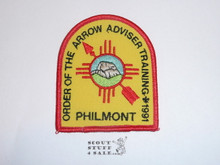 Philmont Scout Ranch, Training Center, 1991 Order of the Arrow Adviser Training Patch