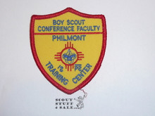 Philmont Scout Ranch, Training Center, Boy Scout Conference Faculty Shield Patch