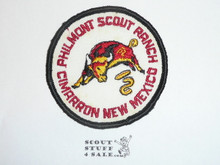 Philmont Scout Ranch, White Twill Round Bull Patch, Gauze Back