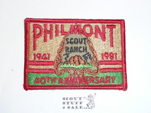 Philmont Scout Ranch, 1981 Fortieth Anniversary Patch