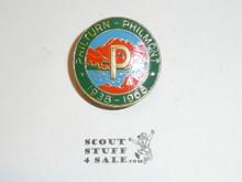 Philmont Scout Ranch Metal Neckerchief Slide, 1968 Philturn/Philmont Thirtieth Anniversary