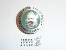 Philmont Scout Ranch Metal Neckerchief Slide, 1966 Twenty Fifth Anniversary