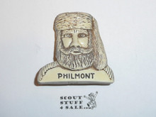 Philmont Scout Ranch Plaster Neckerchief Slide, Mountain Man